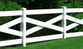 Metropolitan Fence - Wholesale Vinyl Fence Sales - Crossbuck