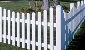 Picket Vinyl Fence Panel Yorkshire
