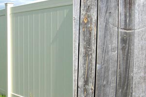 Vinyl Vs Wood Fence Color Fading