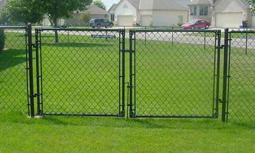 black vinyl chain link fence parts 2