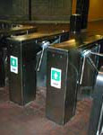 Automatic Electronic Security Turnstile Gates